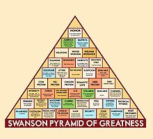 ron swansons pyramid of greatness by chicamarsh1