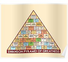 ron swansons pyramid of greatness Poster