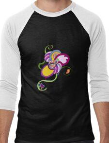 Funky Abstract Flower T-shirt Men's Baseball ¾ T-Shirt