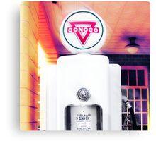 conoco gas pump, route 66, shamrock, texas Canvas Print
