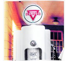conoco gas pump, route 66, shamrock, texas Poster