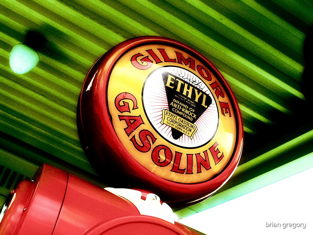 gilmore gas, route 66, los angeles, california by brian gregory