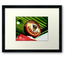 gilmore gas, route 66, los angeles, california Framed Print