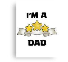 Clash of Clans - I'm a Three Star Dad Canvas Print
