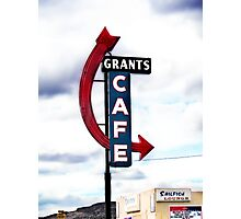grants cafe, route 66, grants, new mexico Photographic Print