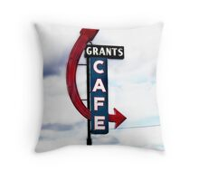 grants cafe, route 66, grants, new mexico Throw Pillow