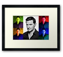 Richard Armitage Pop-Art Collage Framed Print