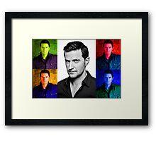 Richard Armitage Pop-Art Collage Framed Print