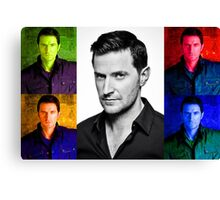 Richard Armitage Pop-Art Collage Canvas Print