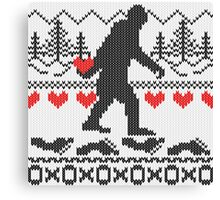 Gone Squatchin For Love Sweater Knitting Style Canvas Print