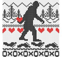 Gone Squatchin For Love Sweater Knitting Style Photographic Print