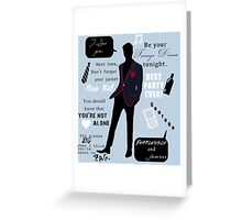 Blaine Anderson Greeting Card