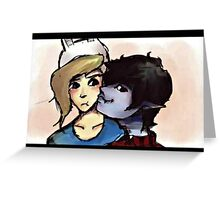 Marshall Lee and Fionna Greeting Card