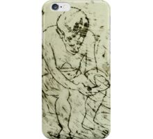 fara monoprint sitting forward with phone iPhone Case/Skin