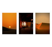 Dubai at Dusk Photographic Print