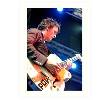 Chris Cheney with Gretsch Guitar Art Print