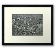 0011 - HDR Panorama - Lichen Damaged Wall Framed Print