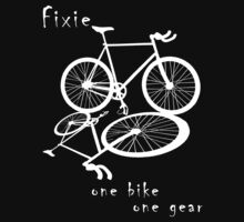 Fixie - one bike one gear (white) by Stefan Trenker