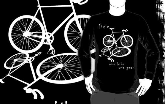 Fixie - one bike one gear (white) by Stefan Trenker