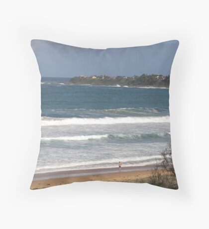Penguin Head Culburra Beach Throw Pillow
