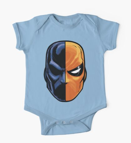 deathstroke - mask (more detail) One Piece - Short Sleeve