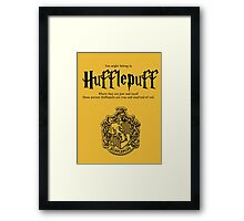 Hufflepuff Badgers Typography Pillow Framed Print