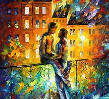 Silhouettes — Buy Now Link - www.etsy.com/listing/212721353 by Leonid  Afremov