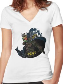 Guardians Of Gotham  Women's Fitted V-Neck T-Shirt