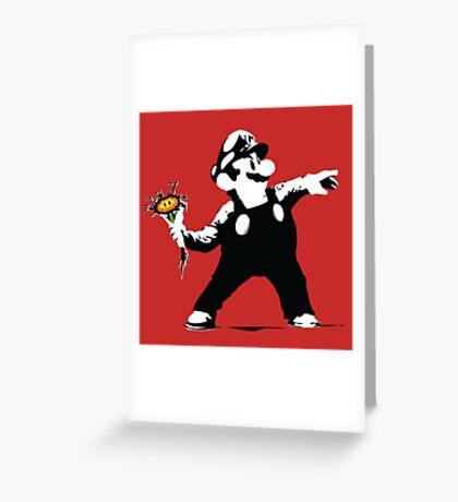 2 Bit Flower Thrower Greeting Card
