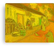 Fishermens cottages Canvas Print