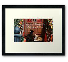 Christmas Wonder Card with Text Framed Print