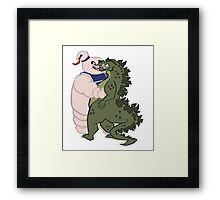 Kaiju Kisses Framed Print