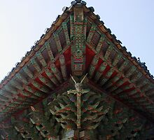 Korean Temple Gargoyle-Pulgulska Temple by Debbie Montgomery