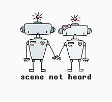 robots heart robots Womens Fitted T-Shirt