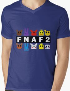 Five Nights At Freddy's 2 Pixel Shirt Mens V-Neck T-Shirt