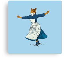 Look At All The Fox I Give - II Canvas Print