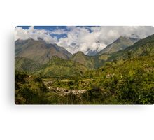Valley in the Himayalas of Nepal Canvas Print