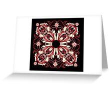 vintage pattern Greeting Card