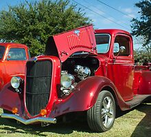 Red Ford Pick Up by Tim Bell