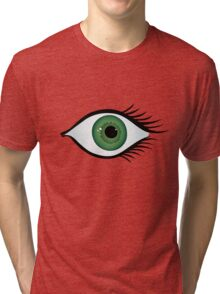 green eye Tri-blend T-Shirt
