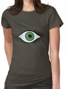 green eye Womens Fitted T-Shirt