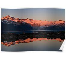 Sunset Over Lake Garibaldi and the Mountains Poster