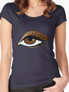 brown eye Women's Fitted Scoop T-Shirt
