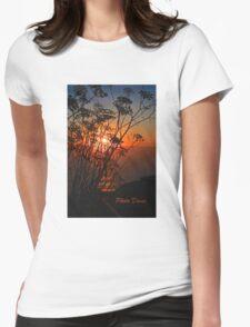 Sunset flower Womens Fitted T-Shirt