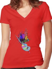 MvS-Artistius Women's Fitted V-Neck T-Shirt