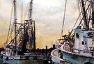 Swansboro Shrimp Boats by Jim Phillips