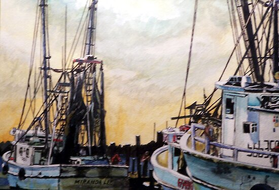 Swansboro Shrimp Boats by Jim Phillips