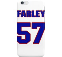 National football player Dale Farley jersey 57 iPhone Case/Skin