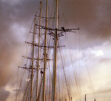 Polynesia Schooner in the Carribbean by Karlita246