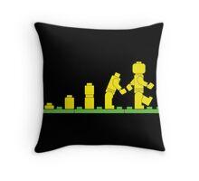 Build Block Walk of Evolution Throw Pillow